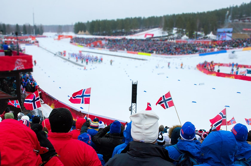 Olympic skiing competition